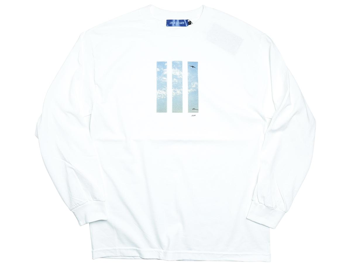 """L.I.F.E (LIVE IN FAB EARTH) AUTUMN & WINTER 2016 """"ITL"""" L/S T-SHIRT color : White"""