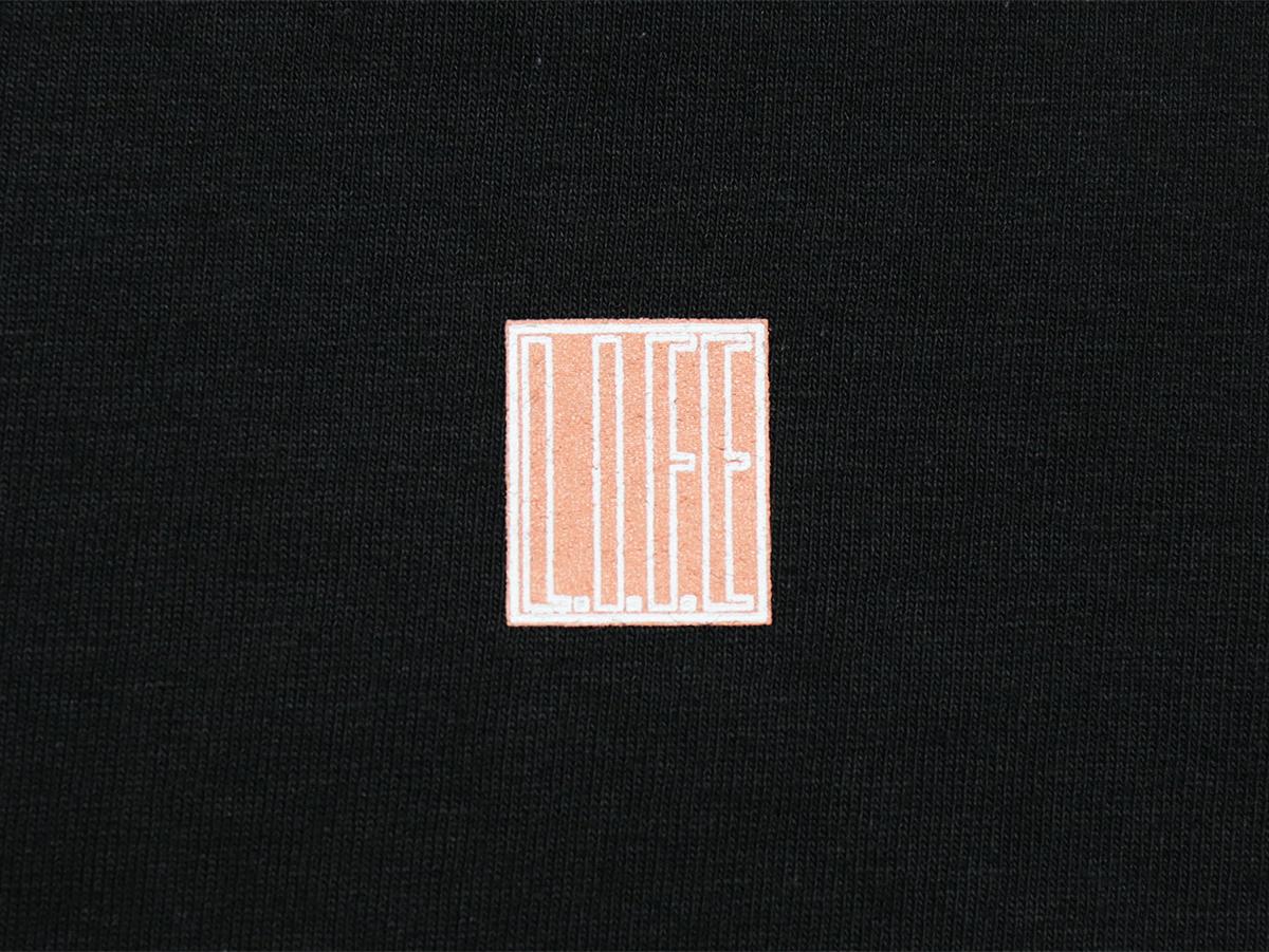 """L.I.F.E (LIVE IN FAB EARTH) AUTUMN & WINTER 2016 """"BOX"""" L/S T-SHIRT color : Black"""