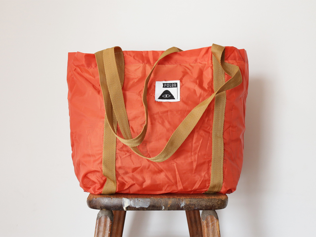POLER / STUFFABLE TOTE BAG - Orange