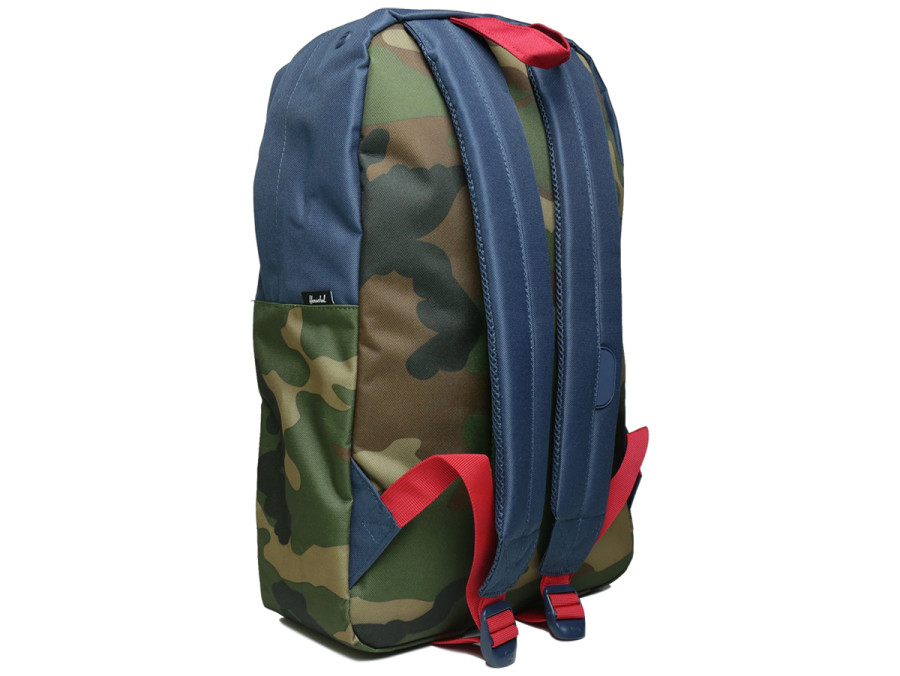 HERITAGE BACKPACK - Navy/Woodland Camo/Red/Navy Rubber
