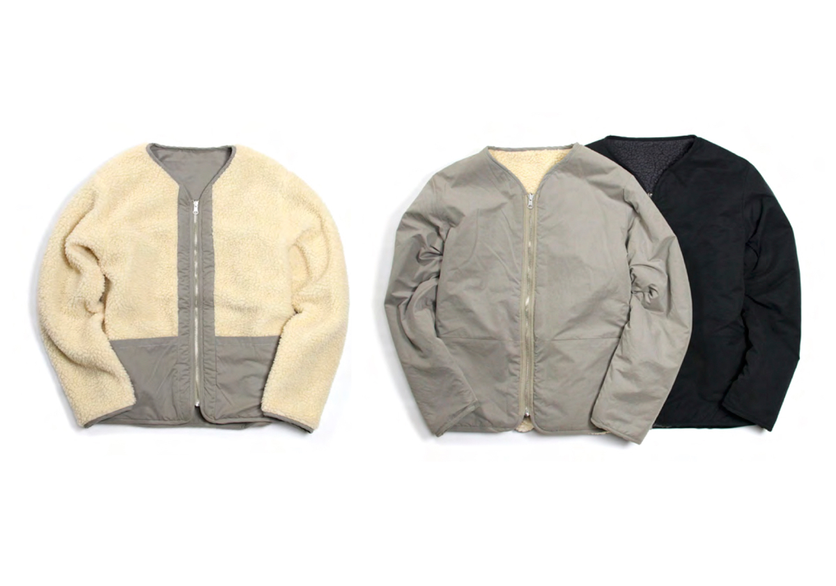 REVERSIBLE SHERPA FLEECE JACKET color : Taupe(Gray), Black